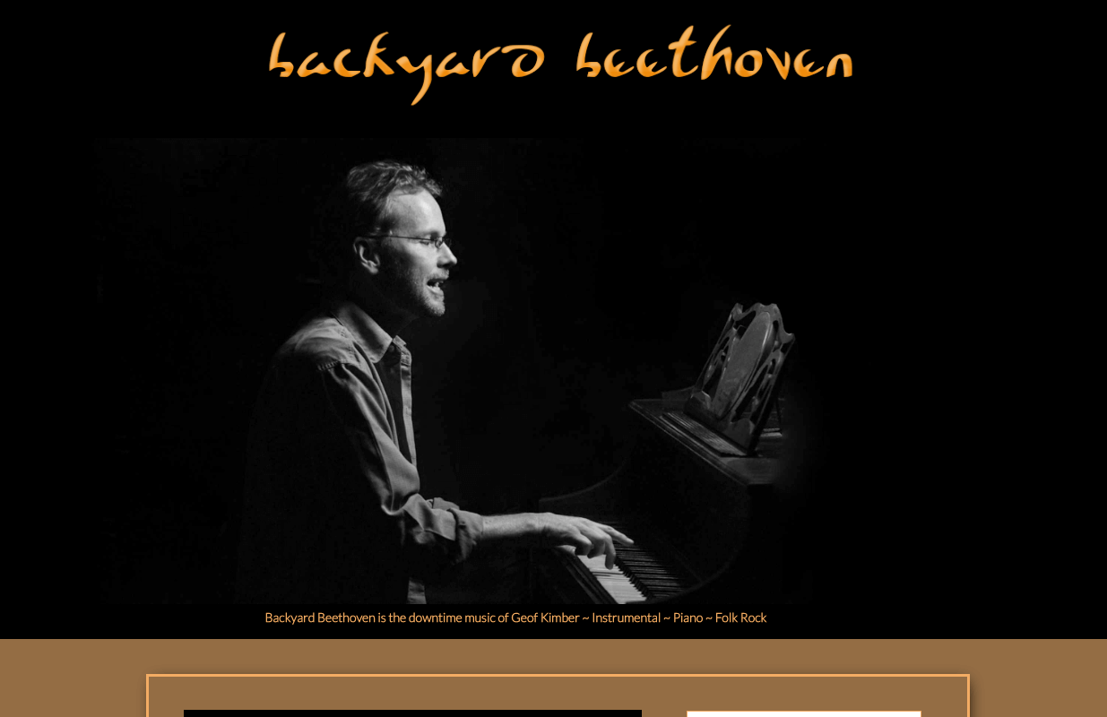 Backyard Beethoven website